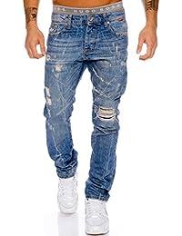 Redbridge by Cipo & Baxx Herren Jeans Hose Used Clubwear Blau