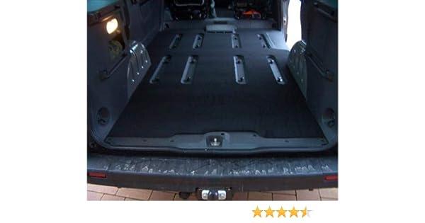 Kofferraummatte Gastraum Teppich kompatibel f/ür Opel Vivaro Renault Trafic III 3.Generation Combi ab 2014 lang mit L/üftung