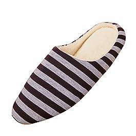 BESTOYARD Pantofole Inverno Ciabatte Calde Peluche Morbido interno antiscivolo Pantofole per Uomo e Donna (Caffè)