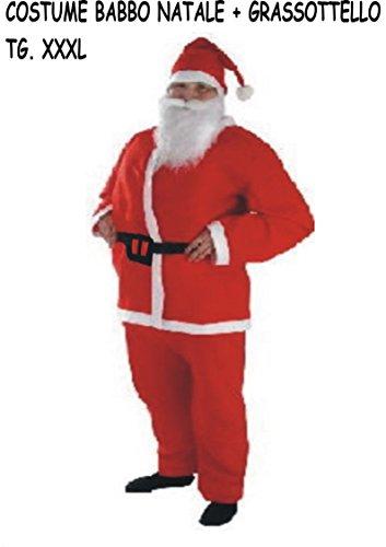 Costume Babbo Natale.Costume Vestito Babbo Natale Grassottello Xxxl Negozio Online