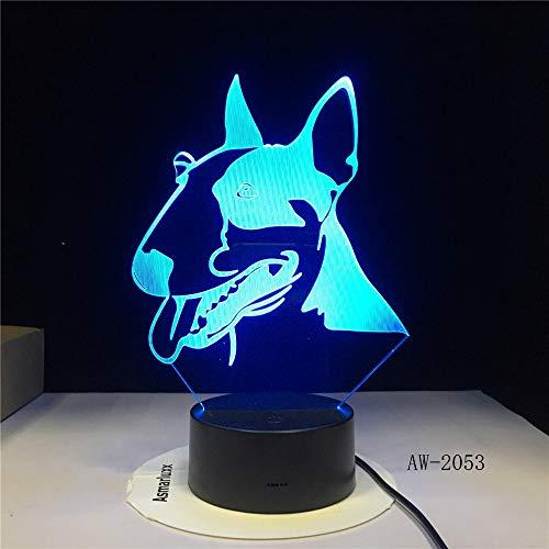 Wzngzj Illusion Lampe Pit Bull Terrier Kinder Nachtlampe Spielzeug Für Jungen 7 Led Farben Ändern Kinder Geschenk - Bull Pit Spielzeug