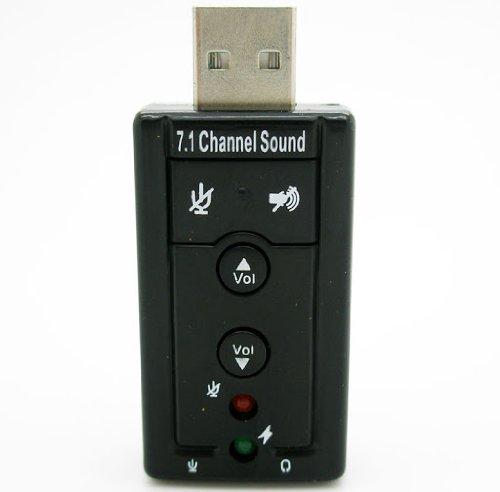 Tarjeta de Sonido 7.1 Externa Adaptador Audio por USB 2.0 CD Drivers D