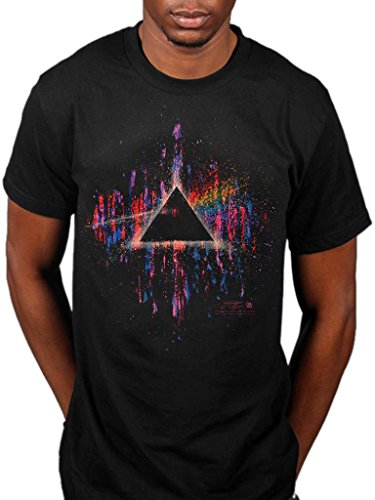Official Pink Floyd Dark Side of The Moon Pink Splatter T-Shirt, S to XXL