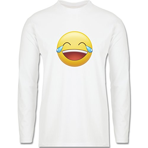 Statement Shirts - Tränen Lachen - Emoji - Longsleeve / langärmeliges T- Shirt für Herren