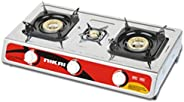 Nikai Triple Burner Gas Stove - NG845, 1 Year Warranty