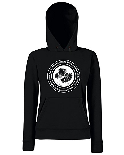 T-Shirtshock - Sweats a capuche Femme T0769 boxing accademy arti marziali Noir