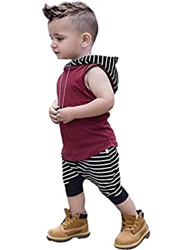 Covermason Kinder Baby Jungen Mit Kapuze Tops Kapuzenpullover + Shorts Hosen Bekleidungssets