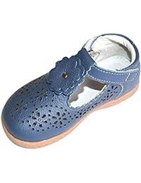 66961359b87 Insun Bailarinas de Cuero para Niñas Princesa Antideslizante Zapatos  Escolares Mary Jane