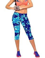 Bonjouree Leggings Court Femme Pantalons de Yoga Fitness Élastique et Souple