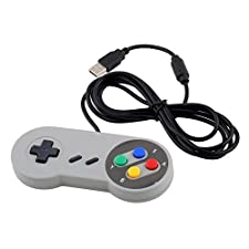 SATKIT Nintendo SNES PC GamePad SFC Controlador para Super Famicom de PC de Windows USB