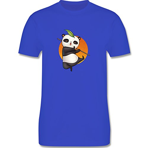 Wildnis - süßer Kampfpanda - Herren Premium T-Shirt Royalblau