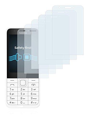 Savvies Schutzfolie für Nokia 230 [6er Pack] - klarer Displayschutz