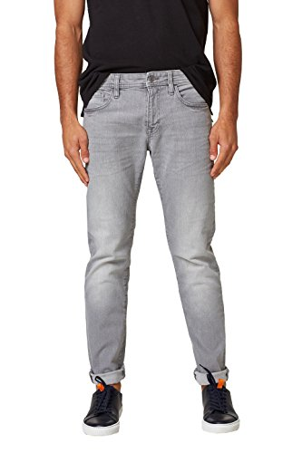 edc by ESPRIT Herren Slim Jeans 028CC2B005, Grau (Grey Light Wash 923), 36/30 (Grey Baumwolle Denim Jean Light)
