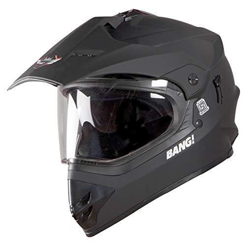 Steelbird SBH-13 7Wings Bang Motocross Helmet in Glossy finish with Plain Visor (Large 600 MM, Glossy H. Grey)