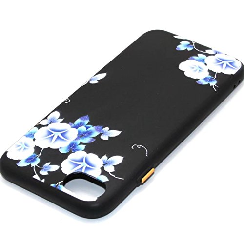 iPhone 7 Case,August 3D Emboss Pattern Flower TPU Soft Case Rubber Silicone Skin Cover for iPhone 7 A3