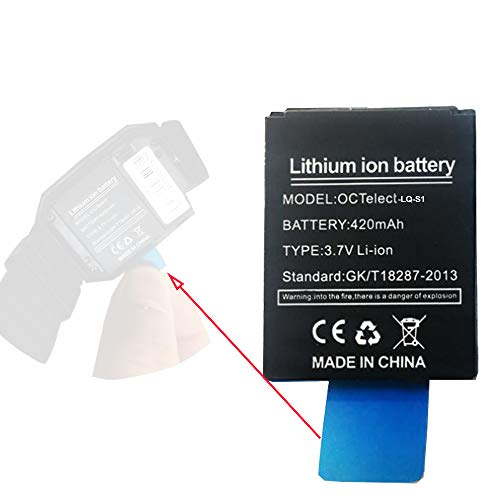 Smart Watch Battery LQ-S1 Rechargable Lithium Battery with 420MAH Capacity  as Well as fit for RYX-NX9,SCX-M9-CE,JHCY-S1,LHL-M9-CE,YX-W9B,M9