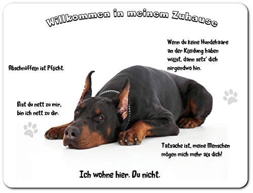 Merchandise for Fans Blechschild/Warnschild / Türschild - Aluminium - 30x20cm - - Willkommen in...