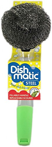 Dishmatic Steel Scourer for cleaning BBQ's, Grills, Hot Plates, Steel Pots & Pans