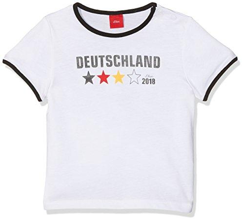 s.Oliver Baby-Unisex T-Shirt 59.802.32.5026, Weiß (White 0100), 92 (Fußball-baby-t-shirt)