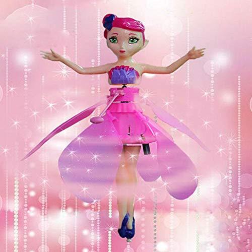 pretty-H Kinder Spielzeug Fliegen Fee Puppe Mit Lichter Infrarot Induktionssteuerung Teen Spielzeug Ballett Mädchen Fliegende Prinzessin Puppe Spielzeug
