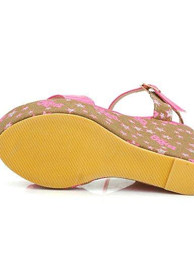 UWSZZ IL Sandali eleganti comfort Scarpe Donna-Sandali / Scarpe col tacco-Tempo libero / Formale / Casual-Zeppe / Tacchi / Spuntate / Plateau-Zeppa-Finta pelle-Blu / Rosa Blue