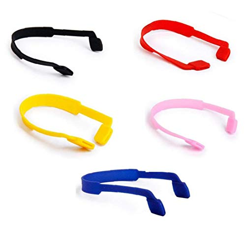 Lankater 5Pcs Silikon-Anti-Rutsch-Brillen-Bügel Für Outdoor Sport Verwendet Ohr-Haken-Set Brillenkette Kinder Brillen Zubehör (Ohr-haken-für Kinder-brille)