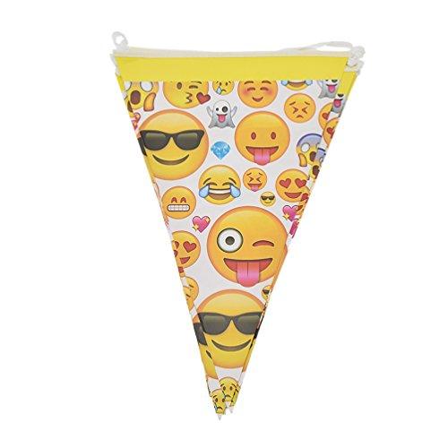 emoji party deko Hongma 10x Girlande Wimpel mit Emoji Druck Kreative für Motto Party Dekor Zubehör