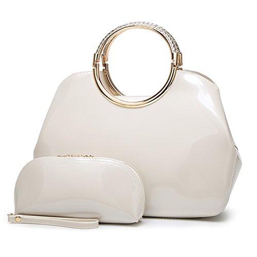 Syknb Mode - Handtasche Tasche Handtasche Trend Bright Braut Styling - Paket. Beige