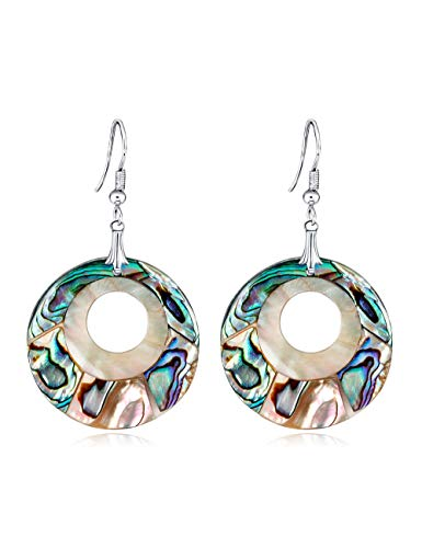 Wsqjpeh888 orecchini moda creativa geometrica serie di conchiglie selvatiche anello orecchini donna semplice ufficio shopping viaggio regalo di compleanno gioielli orecchio (colore : b-two pairs)