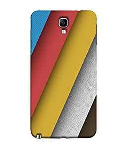 PrintVisa Designer Back Case Cover for Samsung Galaxy Note 3 Neo :: Samsung Galaxy Note 3 Neo Duos :: Samsung Galaxy Note 3 Neo 3G N750 :: Samsung Galaxy Note 3 Neo Lte+ N7505 :: Samsung Galaxy Note 3 Neo Dual Sim N7502 (Broad Stripes In Different Colours)