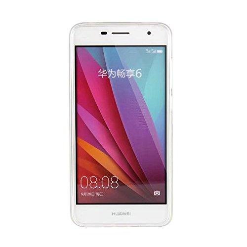Soft Flexible TPU Back Cover Case Shockproof Schutzhülle mit Bling Glitter Sparkles und Kickstand für Huawei Changxiang 6 ( Color : Blue ) White