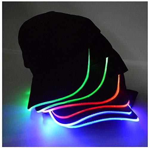 Gorra de béisbol ajustable con ribete de luces LED parpadeantes en la  visera para ir de a49a3f09425