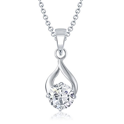 V. K. Jewels Delicate Drop Solitaire Pendant for Women- PS1058R [VKP1058R]