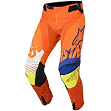 Alpinestars Techstar Screamer Motocross pantalones 2018–naranja azul blanco amarillo, Blue, Yellow, White, Orange