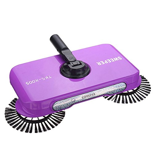 Glive Stainless Steel Multifunction 360 Degree Rotating Sweeper Hand Push Vacuum Floor Cleaner Automatic Dustpan