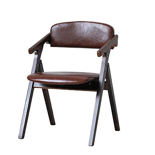 Kunstleder gepolstert Klappstuhl Home Office Dining Faltbare tragbare Armlehne Stühle Gartenterrasse Comfy Outwell Camping Hocker braun
