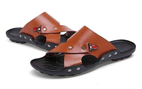 Deslizamento Sapatos De Respirável Marrom Outdoor Sandálias Glter Homens Verão Praia De Chinelos Em Casuais aw8HxYZ