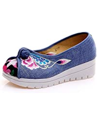 Para Zapatos Amazon Mujer Zapatillas Flores es Bordado 4wW8xBEqv