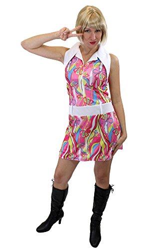 dressmeup Groovy! Sexy Kleid Kostüm Damenkostüm Swinging Sixties Paisley 60er Beatnik Gr. 38, S