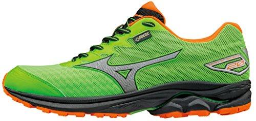 Mizuno Mens Wave Rider 20 Gore -Tex Running Shoe ( Green/Orange )...