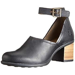 Fly London Women's INAT422FLY Ankle Strap Heels, (Black 000), 4 (37 EU)