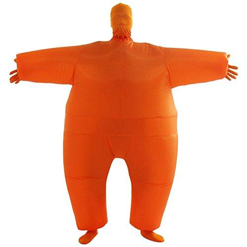 THEE Aufblasbares Kostüm Japan Sumo für Halloween Karneval Fastnacht Fasching Erwachsene Fett Anzug,Orange (Japan Motto Kostüm)