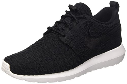 Nike Roshe Nm Flyknit, Chaussures de Running Homme Noir (Black/Black White)