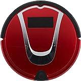 Robot Aspirapolvere Spazzatrice Aspirapolvere Pulizia Casa Pet Capelli Strumento Mute Smart Sensor Navigazione E Telecomando,Red