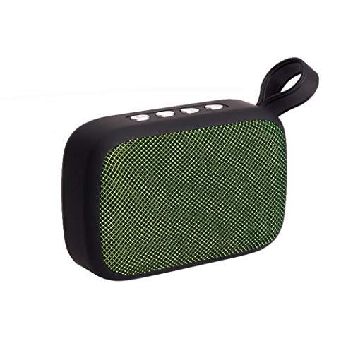yjydada Tragbare Wireless Bluetooth Stereo SD FM Lautsprecher für Smartphone Tablet Laptop grün