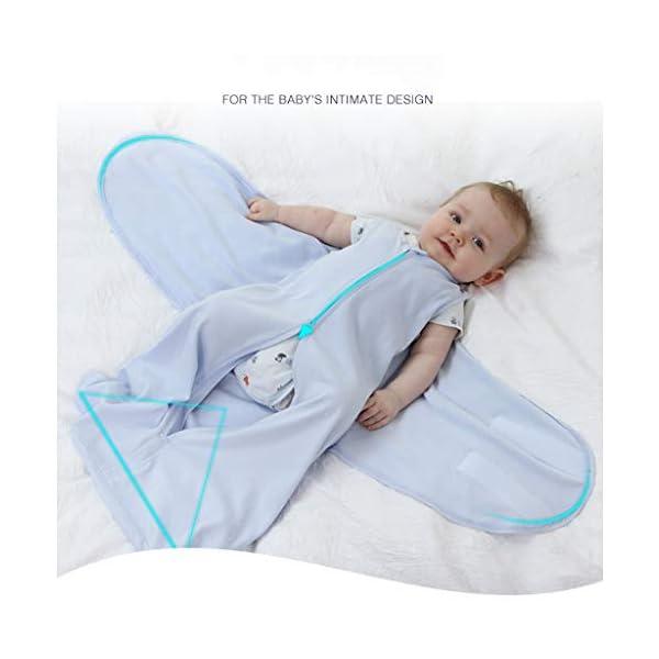 HAOHEYOU Newborn Solid Sleeping Bag Swaddle,3 6 12 18 24 Adjustable Baby Sack Wrap Wearable Blanket 2