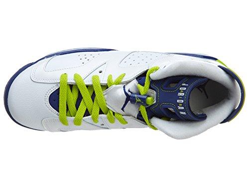 Nike Air Jordan 6 Retro Gg, Chaussures de Running Entrainement Fille Multicolore - Blanco / Verde / Azul / Rosa (Wht / Frc Grn-Dp Ryl Bl-Hypr Pnk)