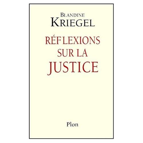 Réflexions sur la justice