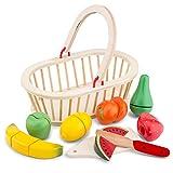 New Classic Toys - 10588 - Jeu D'imitation - Cuisine - Fruits À Découper - Panier...
