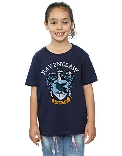 Harry Potter Mädchen Ravenclaw Crest T-Shirt Navy Blau 9-11 Years